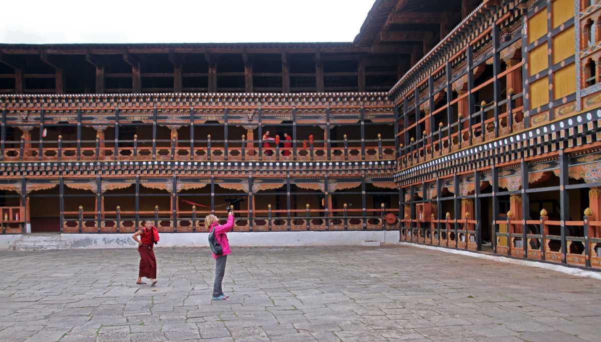 Interior of Paro Dzong, Paro Tshechu