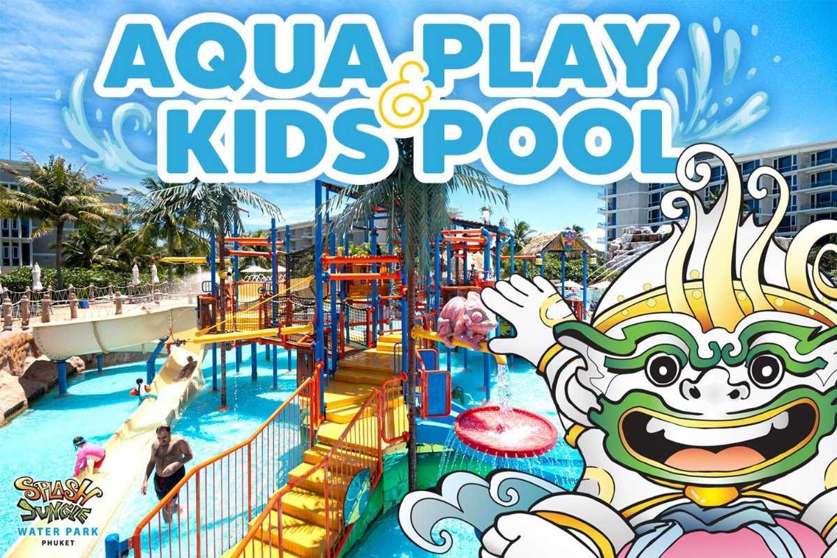 Aqua Play and Kids Pool at Splash Jungle Water Park, Phuket