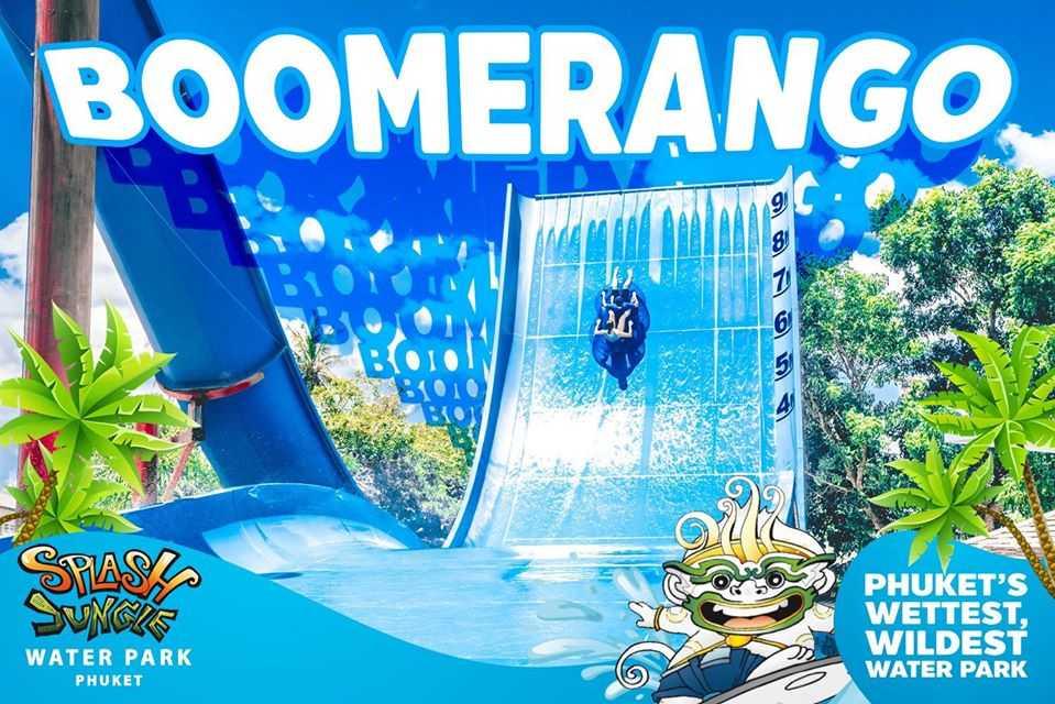 Boomerango Ride at Splash Jungle Water Park, Phuket