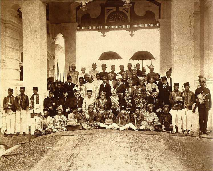 Sultans at the first Malayan Durbar