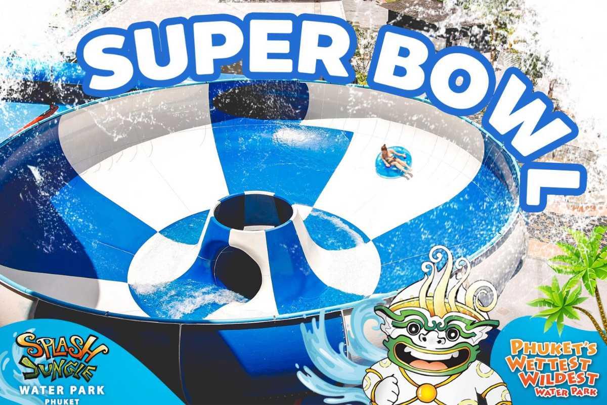 Super Bowl Ride at Splash Jungle Water Park, Phuket