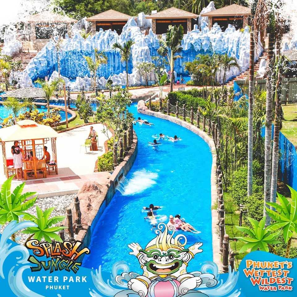 The Lazy River at Splash Jungle Water Park, Phuket
