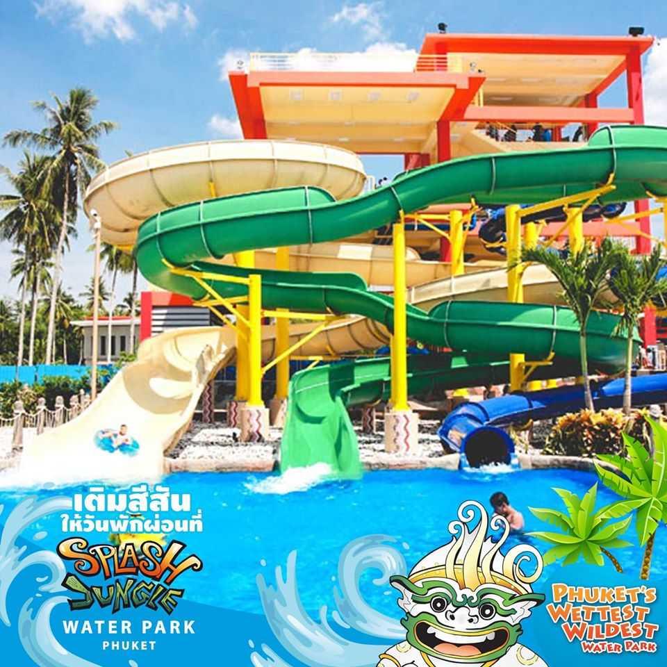 Body and Tube Slides at Splash Jungle Water Park, Phuket