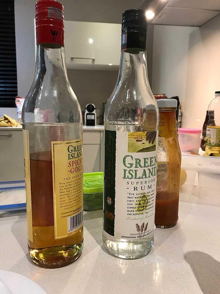 Rum, Food in Mauritius
