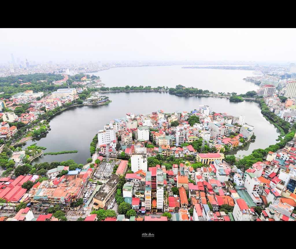 Truc Bach Lake Hanoi Vietnam