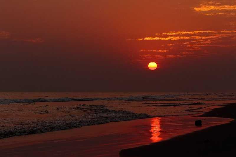 Sunset at Aryapalli Beach