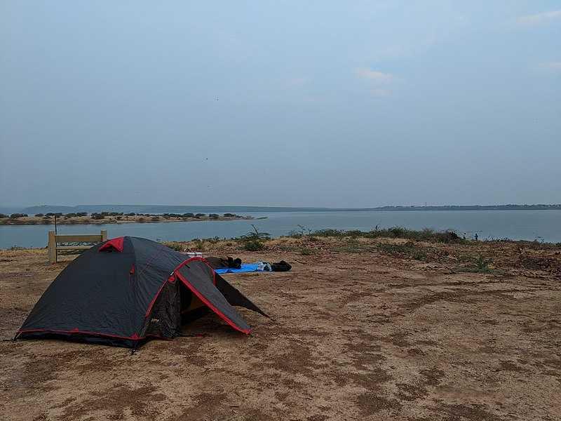 Camping at Pennar River