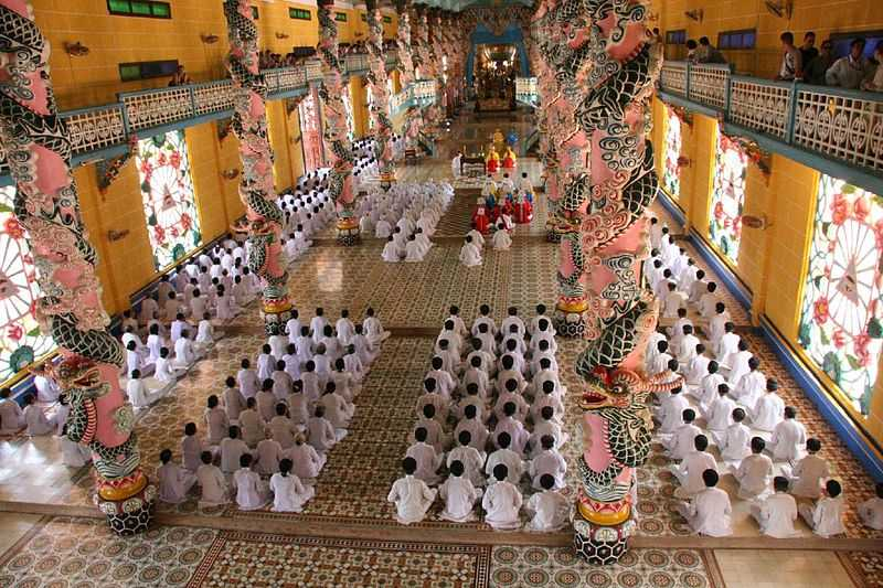 Cao Dai Holy See temple in Tây Ninh, Religion in Vietnam