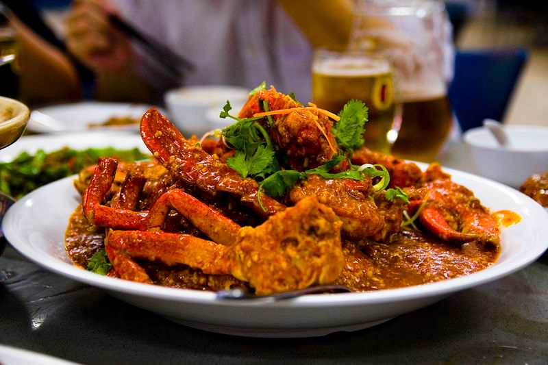Chili Crab, Dishse of Singapore