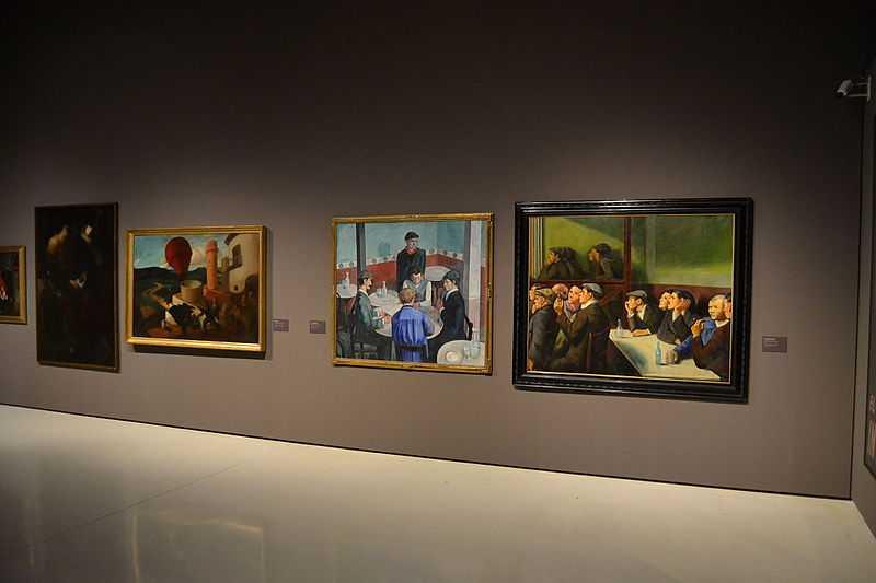 4 paintings, modernism, museu d'art de catalunya