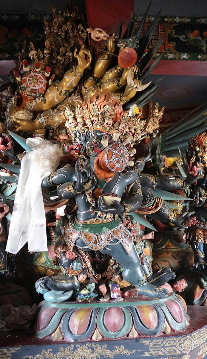 Deity inside Memorial Chorten Thimphu
