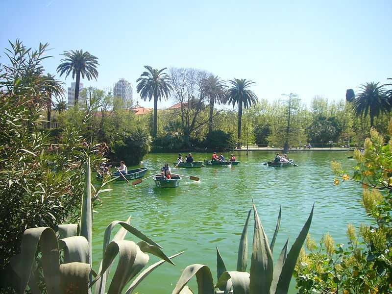 boats, lake, parc de la ciutedella