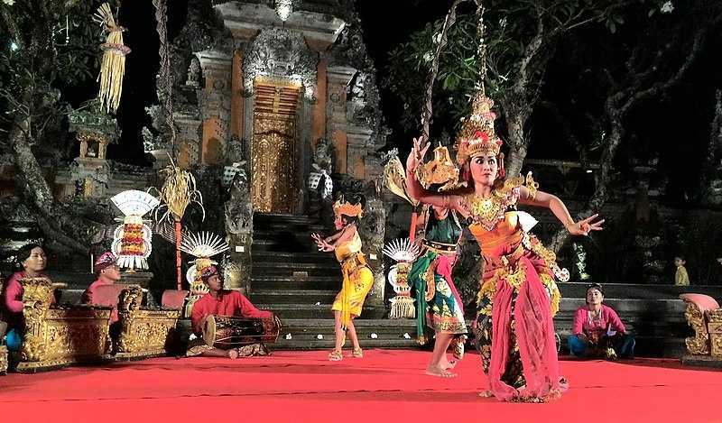 Wayang Wong, a Balinese Dance Drama Performed at Ubud