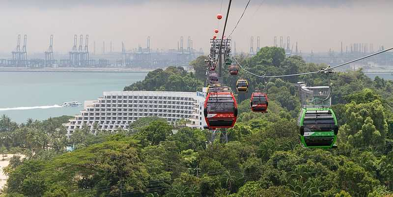 View of Sentosa Island from Cable Car