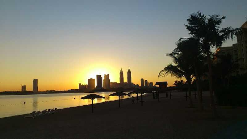 sunrise from Palm Jumeirah, Dubai