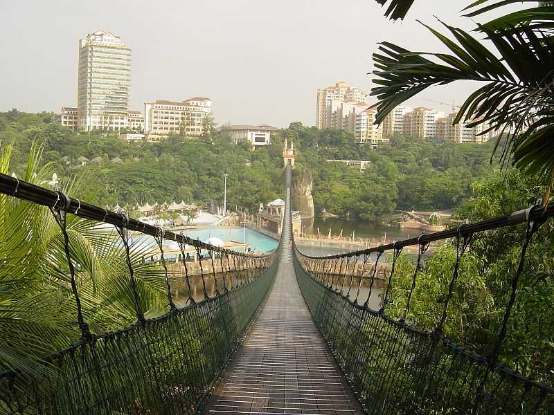Suspension bridge at Sunway Lagoon Theme Park