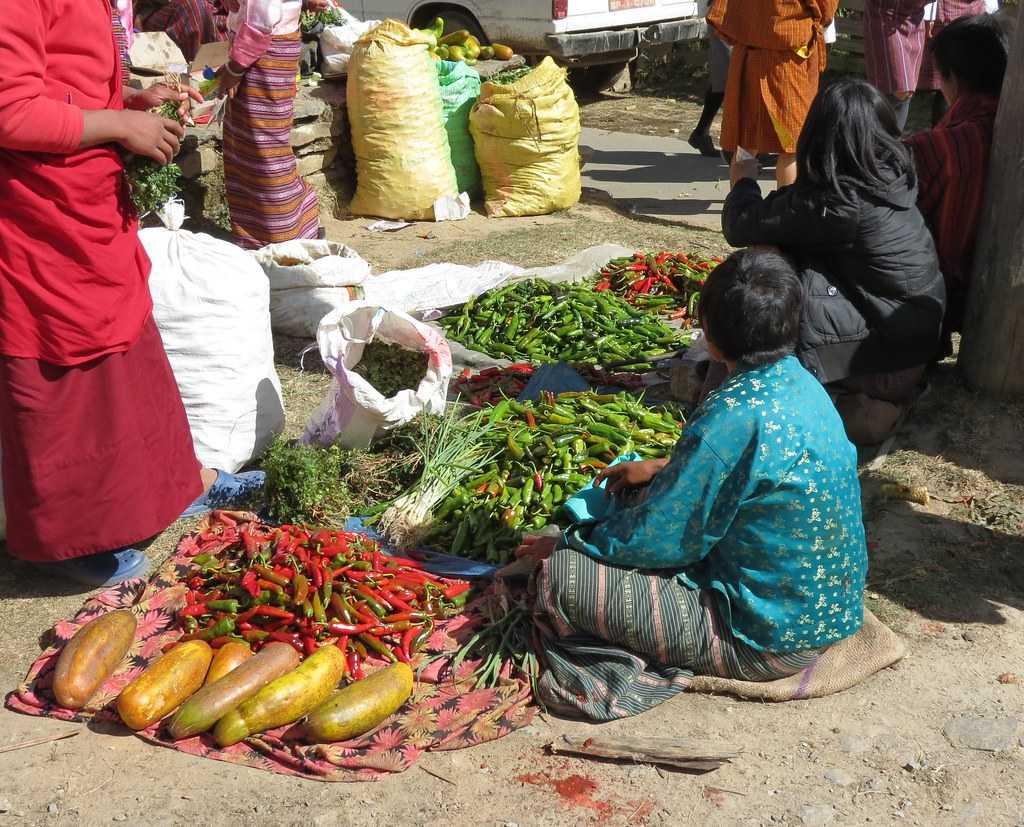 market in Bhutan