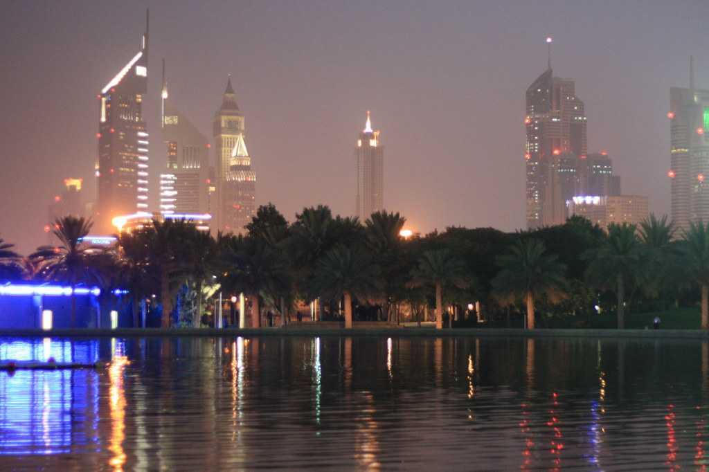 Zabeel Park at night