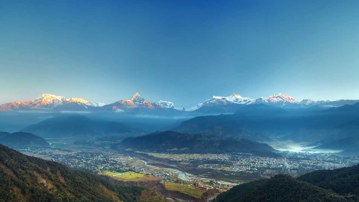 Sunrise at Sarangkot , viewpoints in Pokhara