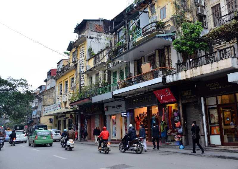 Hang Gai Street Old Quarter Hanoi Vietnam