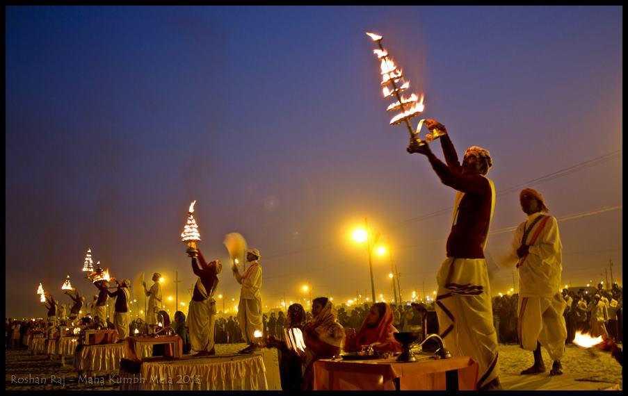 Ganga Aart Ritual during Kumbh Mela