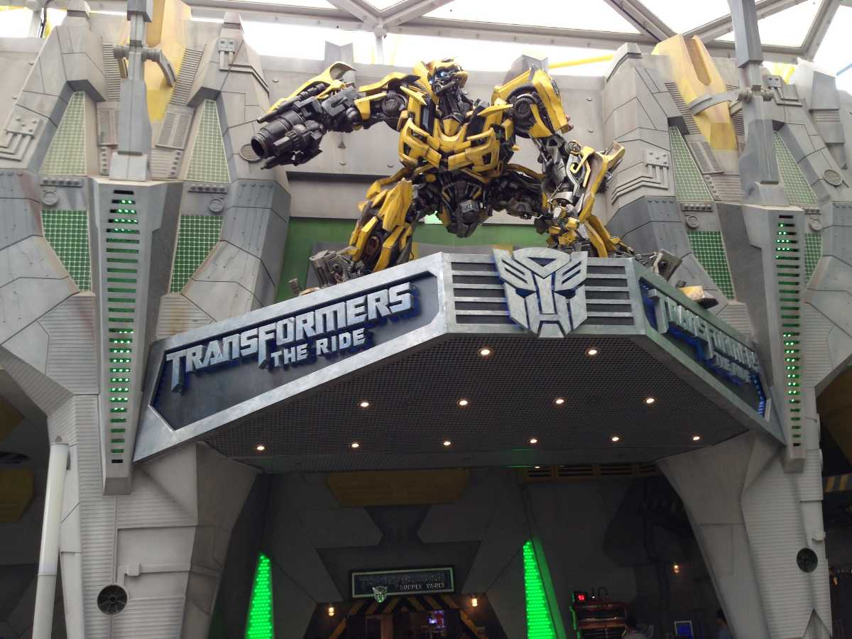 Transformers the ride at Universal Studios Singapore