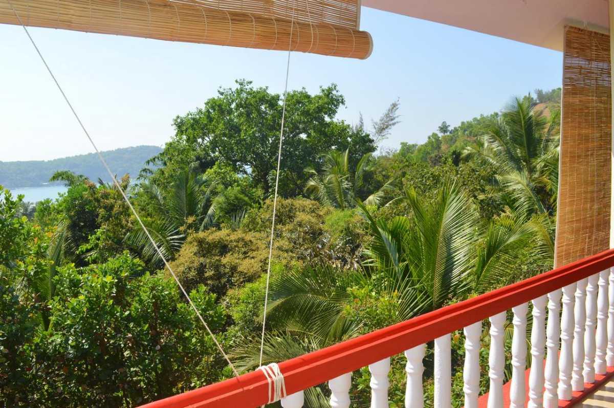 Balcony view from Namaste Yoga Farm