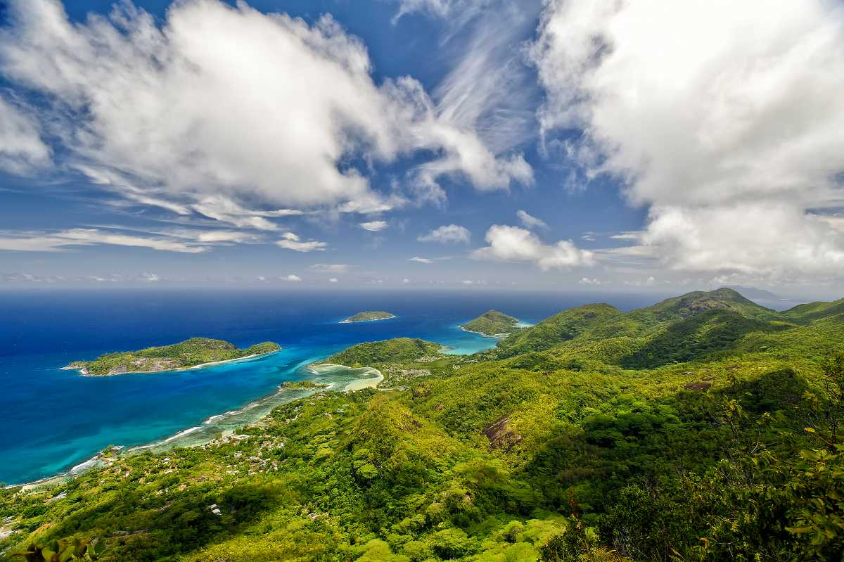 View from Morne Blanc in Seychelles