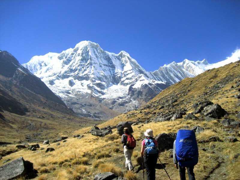 Trekking at Annapurna Base Camp