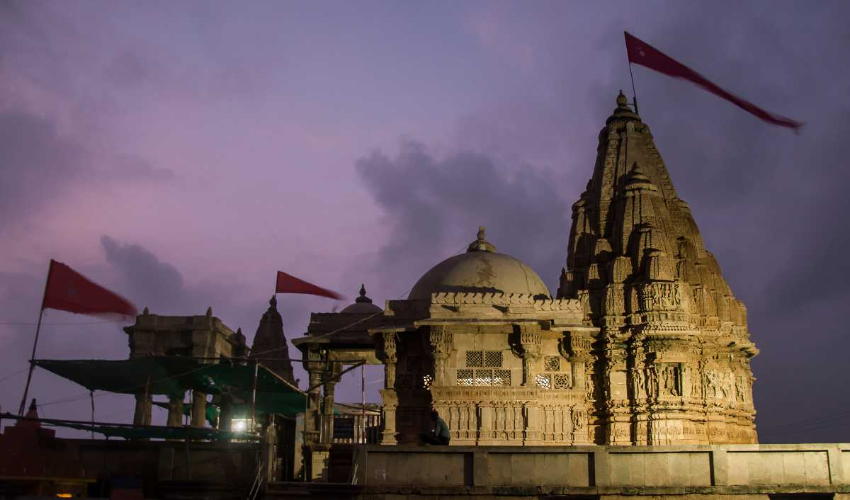 Rukmani Temple at night