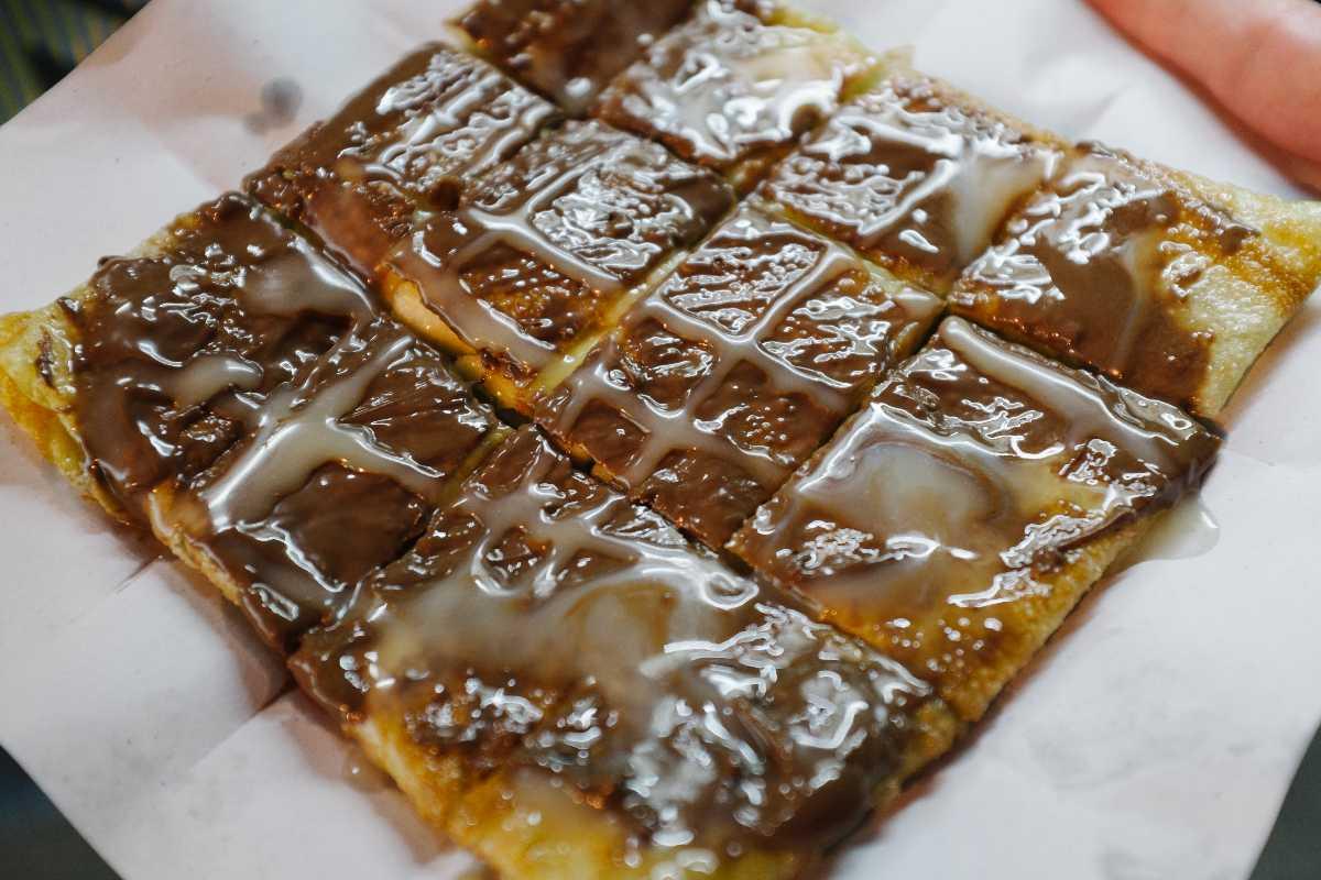 Thai Roti with Nutella, Thai Desserts