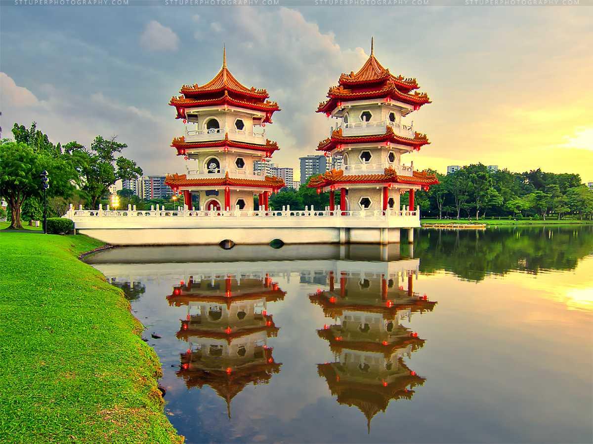Chinese Garden Pagodas