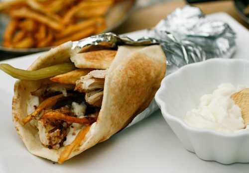 Shish Tawouk Sandwich, Street Food in Dubai
