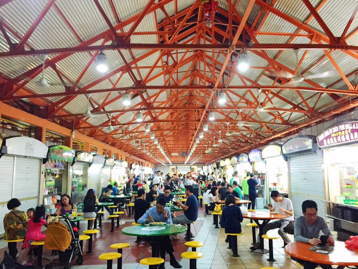 Maxwell Food Centre, Eating in Singapore with kids