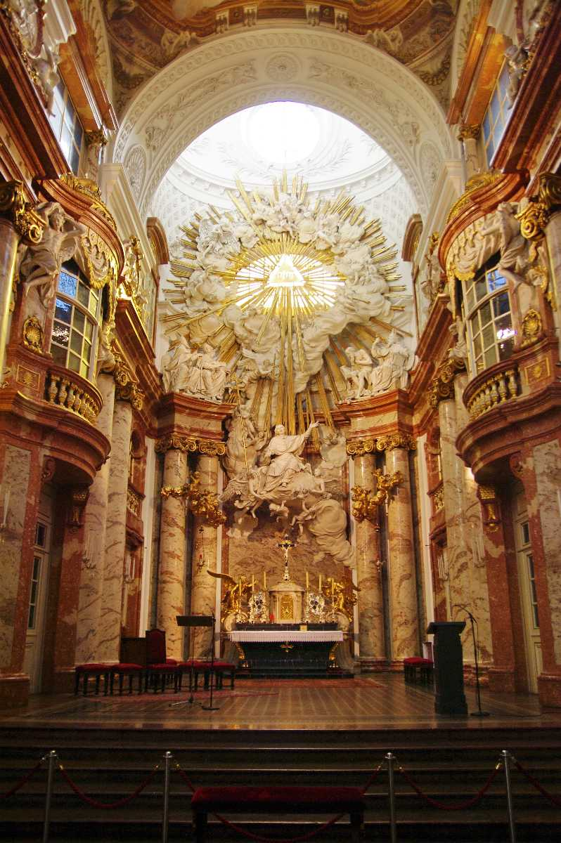 Karlskirche, architecture, interior, paintings on ceiling