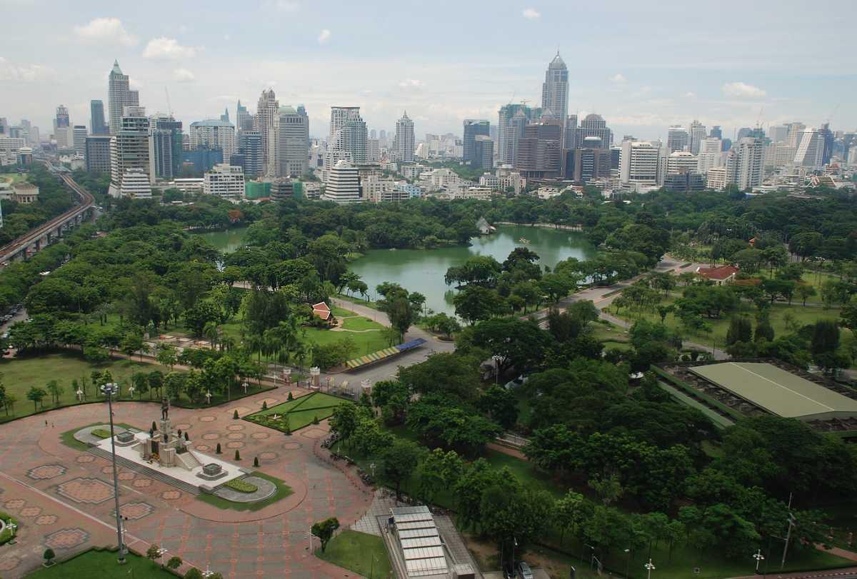 Lumpini Park Aerial View