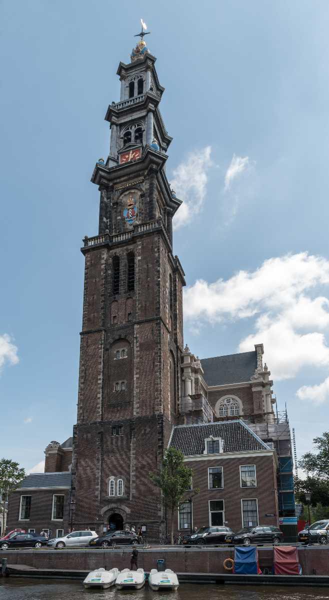 westerkerk church, attraction in Amsterdam, crown, Rembrandt