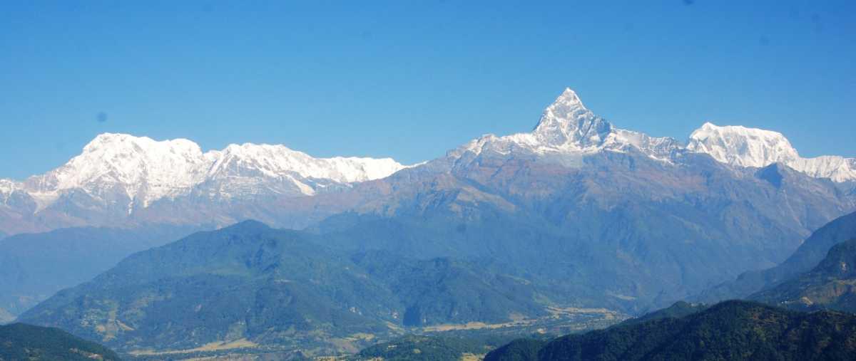 Annapoorna Range, lakeside Pokhara