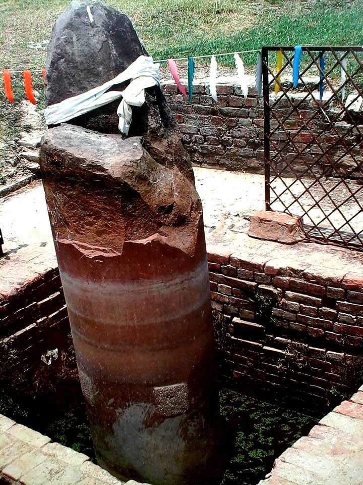The stupa which is made from Mauryan Bricks