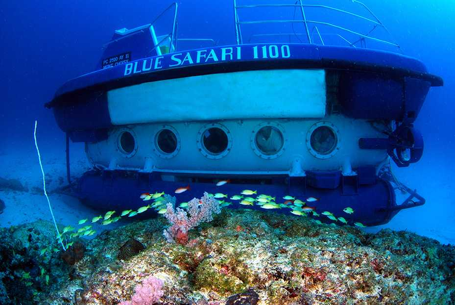 Submarine Tour, water sports in Mauritius