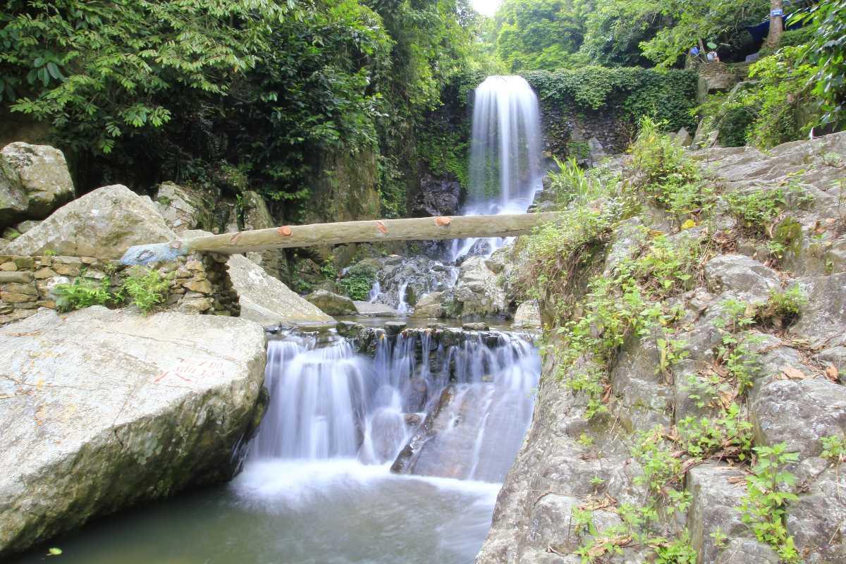 Waterfall in Ba Vi National Park Vietnam