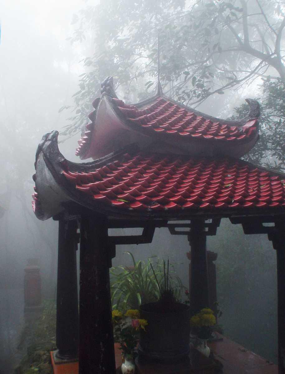 Ho Chi Minh Temple on Ba Vi National Park Vietnam