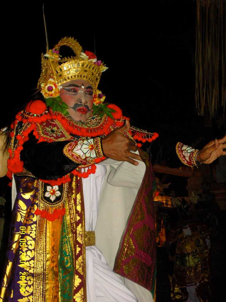 Balinese Dancer Performing Gambuh, a Semi-Sacred Dance in Bali