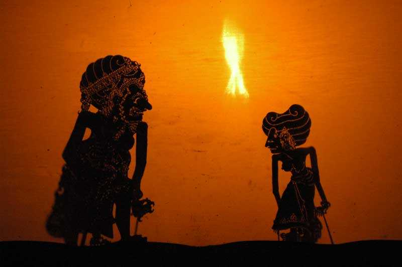 Wayang Puppet Theatre performed in Bali