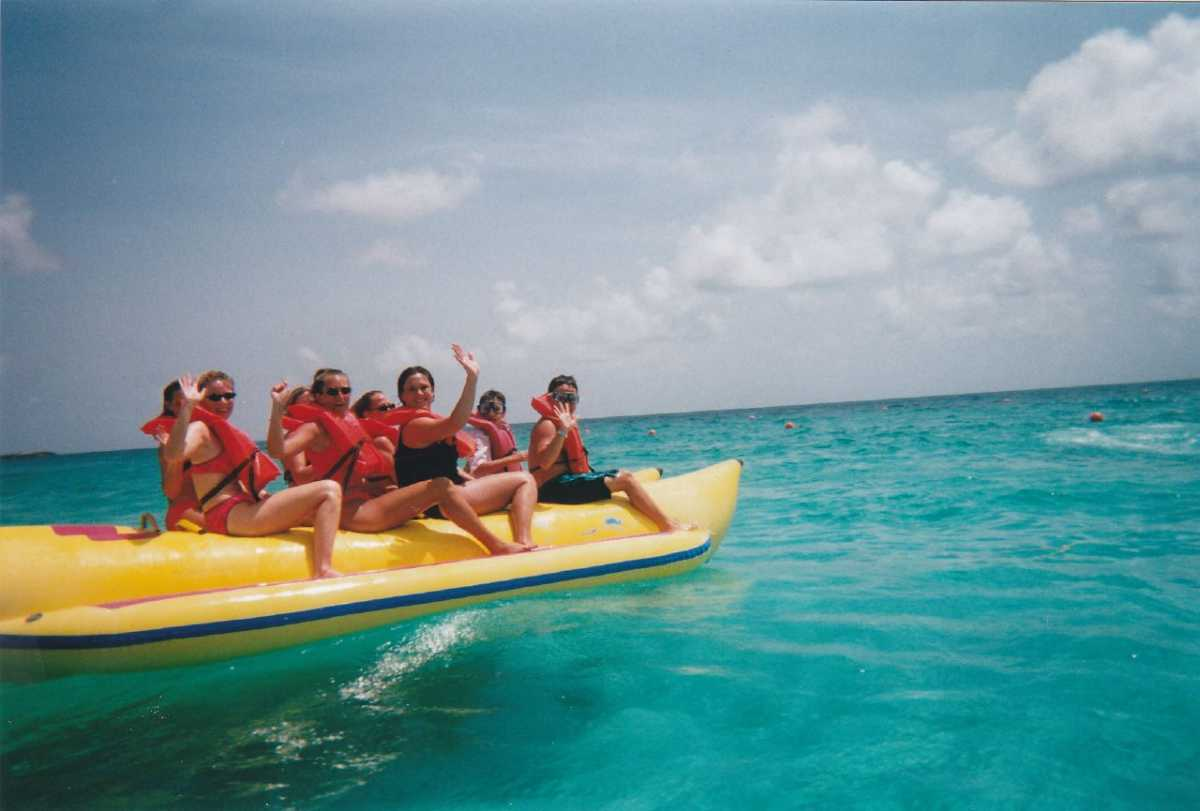 Banana boat ride in Bentota