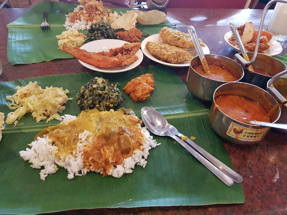 Leaf Rice Set at Sri Latha Curry house