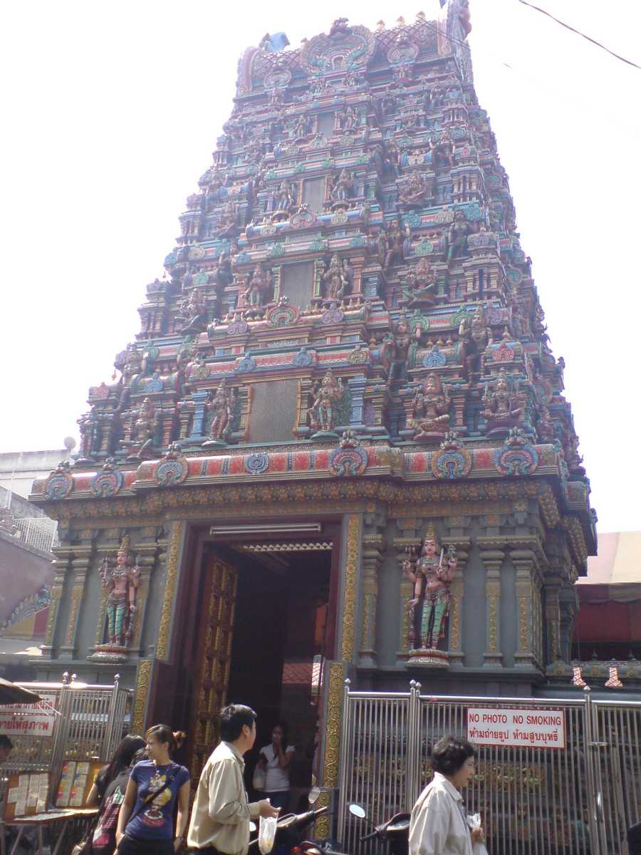 Hindu Temple in Bangkok city