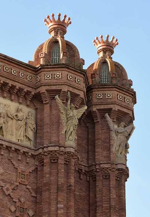 arc de triomf, archway, architecture, red brick