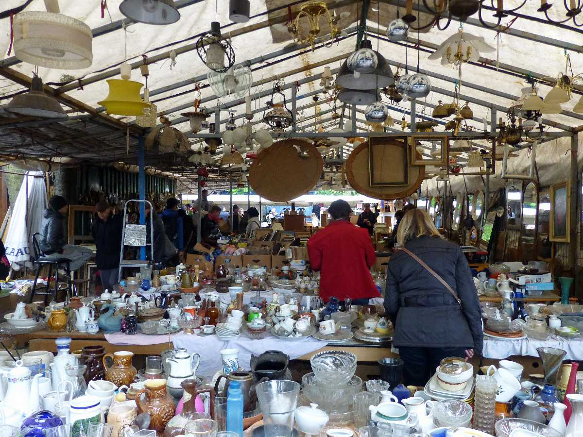 Flea market at the Mauerpark, Berlin