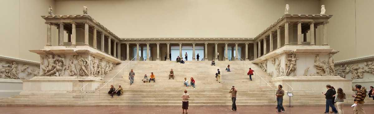 Pergamon Altar, monumental construction during the 2nd century BCE, in Pergamon Museum